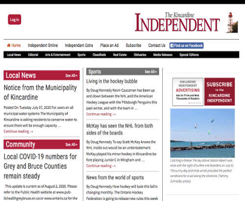 Kincardine Independent Newspaper