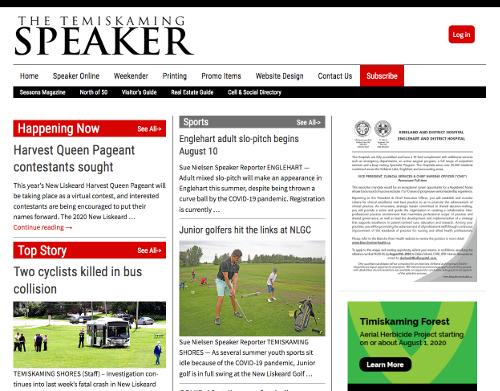 Temiskaming Speaker Newspaper