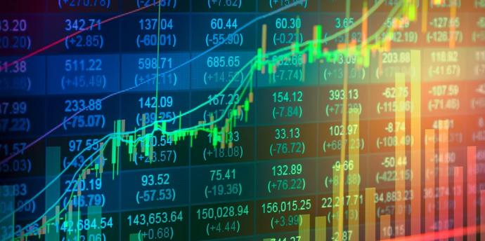 Image of stocks rising