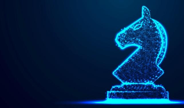 Glowing chess piece