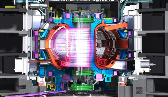 Engineering 3D model of a TOKAMAK thermal nuclear fusion engine